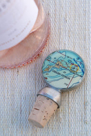 Virgin Gorda chart wine stopper from a sailing shop