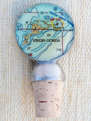 Virgin Gorda Chart Wine Stopper-Accessories-Bitter End Provisions