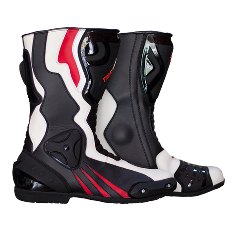 GP Race Boots - Black/White/Red