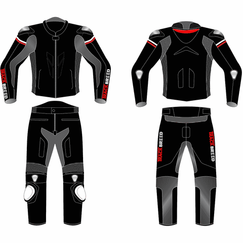 TBG GP Two Piece Race Suit - Black
