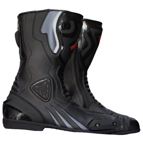 GP Race Boots - Black/Silver
