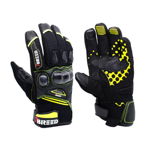 TBG FLAIR Riding Gloves - Fluro Yellow