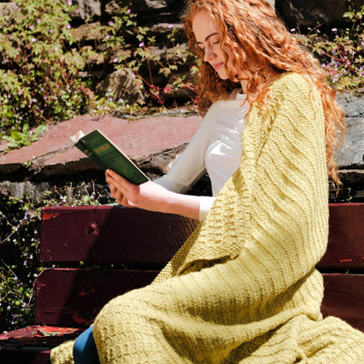 Kathleen Aran Blanket Knitting Kit