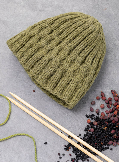 Shannon Aran Beanie Hat Knitting Kit
