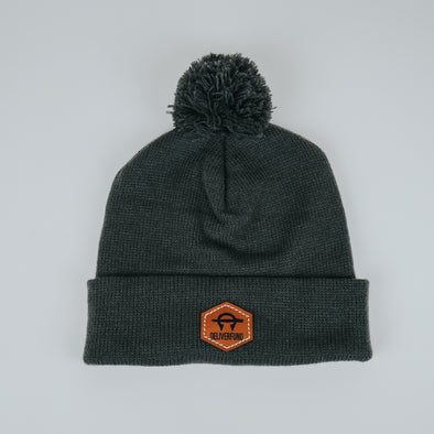 DeliverFund Pom Pom Beanie - Iron Grey