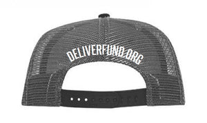 DeliverFund Logo Snapback - Black/Grey