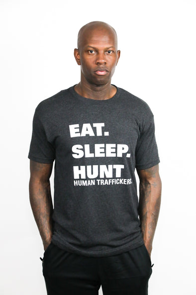 Men's Eat Sleep Hunt Human Traffickers T-Shirt