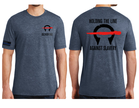 Men's Holding the Line Against Slavery T-Shirt *Last Chance!  No longer in print!*