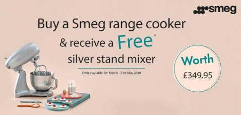Free Smeg Mixer with any when purchasing a Smeg Range Cooker