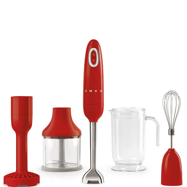 Smeg Hand Blender Red HBF02RDUK