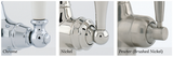 Athenian Three Hole Sink Mixer with Crosshead Handles