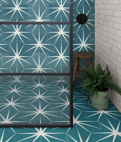 Lily Pad Marine Pattern Tile