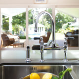 Ionian Deck Mounted Taps with Lever Handles and Rinse