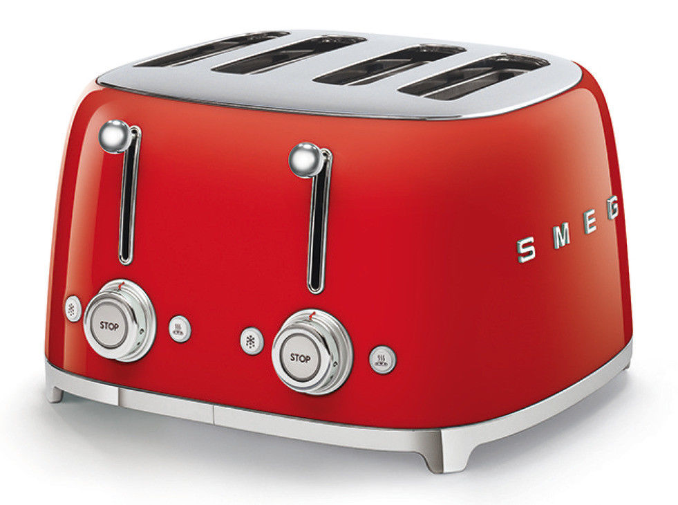 SMEG 50's Retro Style 4 Slice Toaster 4 Slot- Red
