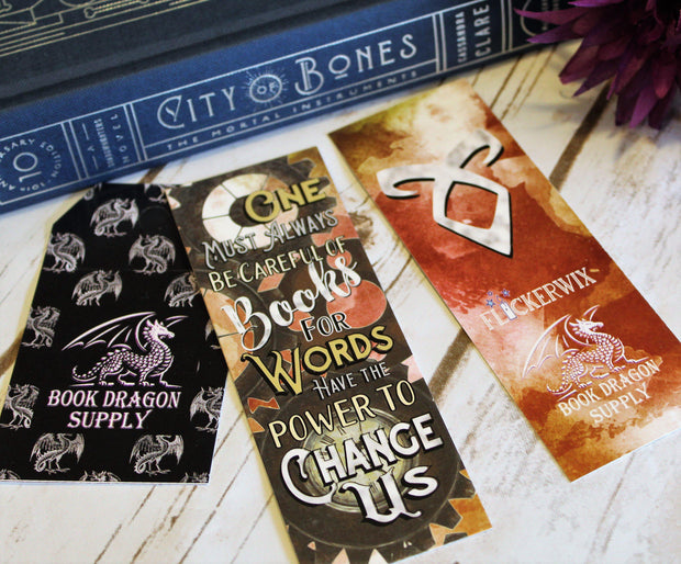 """Be Careful of Books"" Bookmark - Infernal Devices"