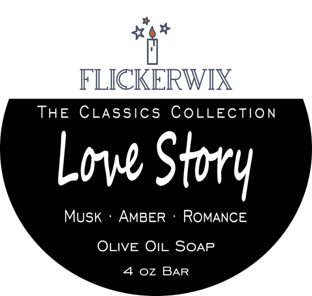 Love Story | Musk, Amber & Romance | Olive Oil Soap-Flickerwix