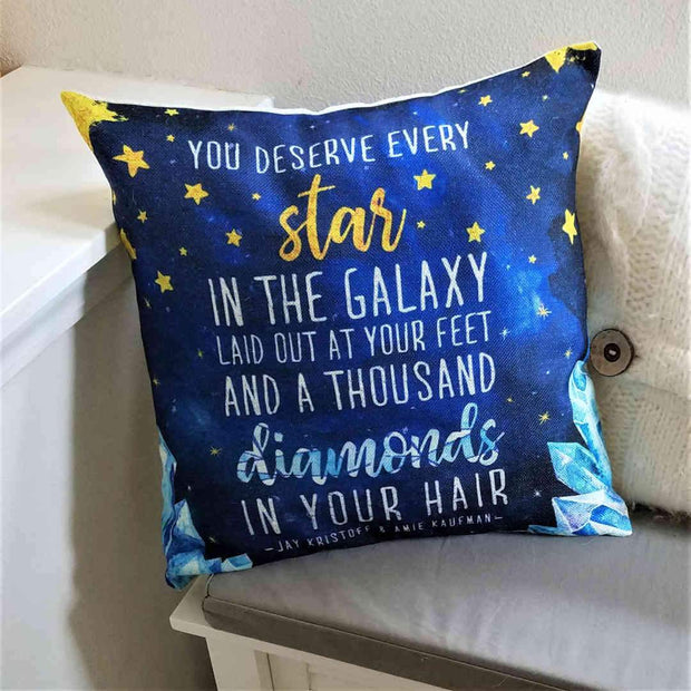 Diamonds in Your Hair 18 x 18 Pillow Case (Illuminae)-Merchandise-Flickerwix