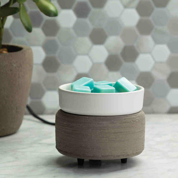 Wax Melter - Grey Texture & White-Warmers-Flickerwix