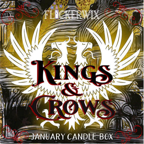 "JAN - ""Kings & Crows"" Candle Box-Flickerwix"