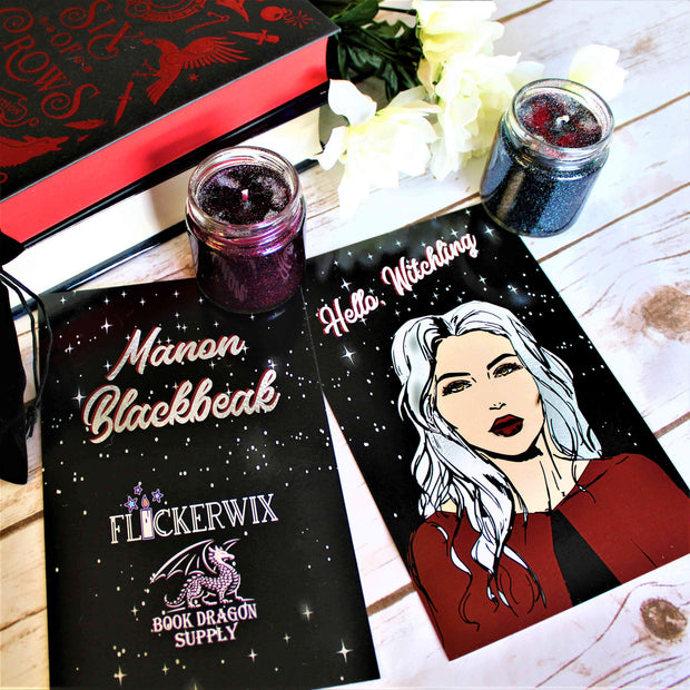 """Hello, Witchling"" Manon Print - Throne of Glass Inspired-Merchandise-Flickerwix"