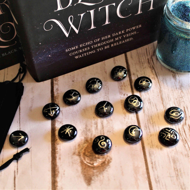 Hand-Painted Witches Divination Runes-Merchandise-Flickerwix