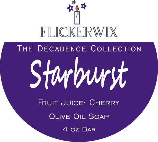 Starburst | Fruit Juice & Cherry | Olive Oil Soap-Flickerwix