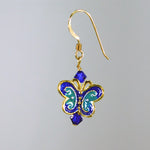 Bee Wild Enamel Butterfly Earrings