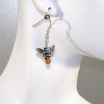 Bee Wild Pewter Bee Earrings