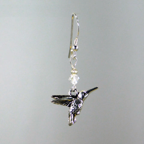 Bee Wild Pewter Hummingbird Earrings