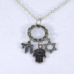 Bee Faithful Jewish Charm Necklace