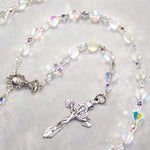 Iridescent Clear Glass 5-Decade Rosary