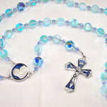 Iridescent Blue Glass 5-Decade Rosary