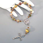 Crazy Lace Agate 1-Decade Rosary