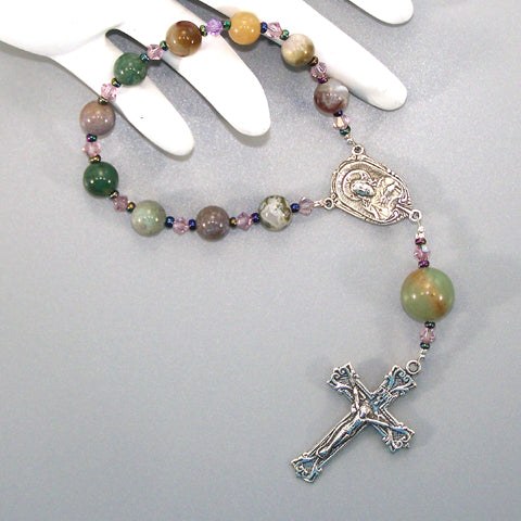 Fancy Jasper 1-Decade Rosary