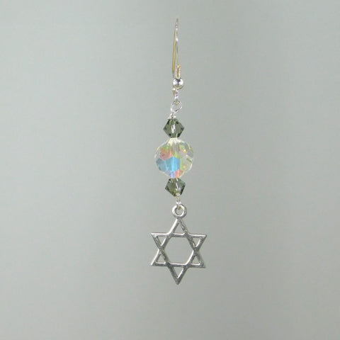 Bee Faithful Star of David Earrings