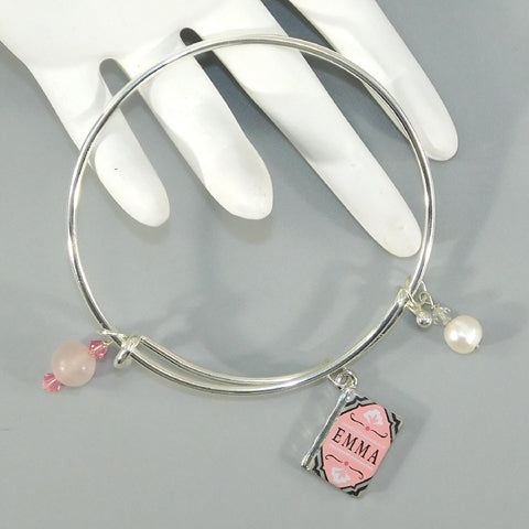 Rose Quartz Emma Bangle Bracelet