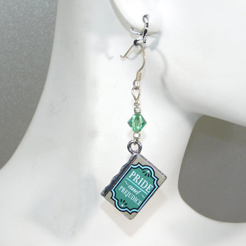 Jane Austen Book Charm Earrings