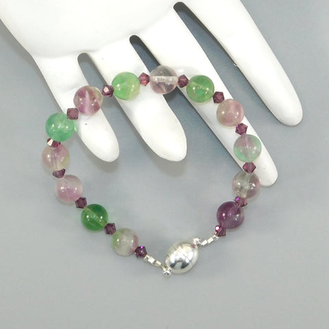 Flourite Sterling Bracelet w/Magnetic Clasp