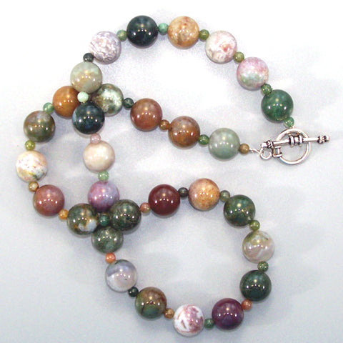 Fancy Jasper Sterling Necklace (large)