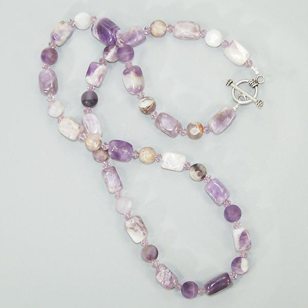 Cape Amethyst Nugget Sterling Necklace