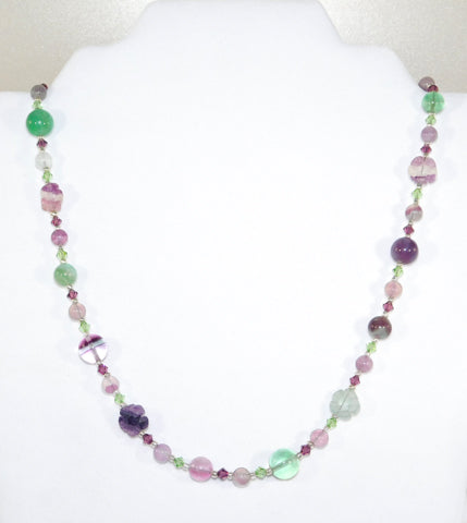 Flourite Flower Sterling Necklace