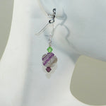 Flourite Flower Earrings
