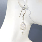 White Howlite Flower Earrings
