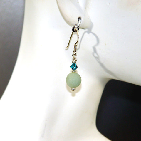 Matte Amazonite Earrings