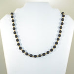 Black Onyx & Gold Swarovski Pearl Necklace