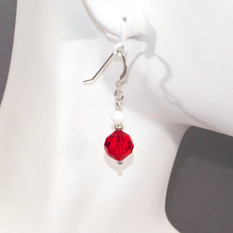 Red Swarovski Earrings