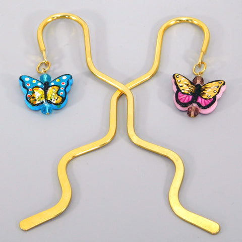 Bee Wild Butterfly Bookmark