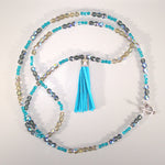 Czech Crystal with Suede Tassle Necklace