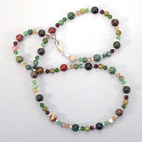 Fancy Jasper Sterling Necklace