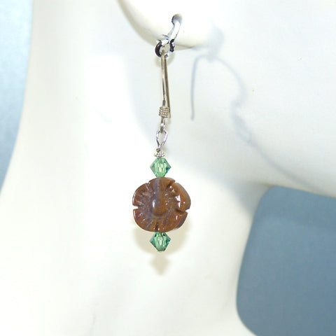 Fancy Jasper Flower Earrings